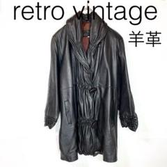 "Thumbnail of ""W3207*vintage 羊革 レザーコート  黒ブラック"""