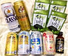 "Thumbnail of ""アルコール飲料6本、韓国のり4つ、ヘパリーゼ1本"""