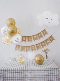 """Thumbnail of """"誕生日 Happy Birthday ガーランド 飾り豪華セット(雲a)3"""""""