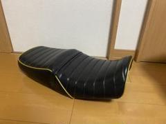 "Thumbnail of ""値下げ可能 xjr400 4hm 前期 タックロール 黒 金 ロゴ入り"""
