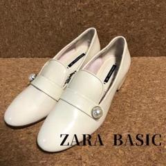 "Thumbnail of ""新品 ZARA BASIC フラットシューズ パール ホワイト"""