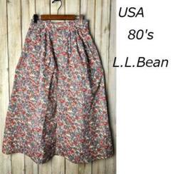 "Thumbnail of ""USA古着 80s USA製 L.L.Bean 花柄 コットンロングスカート"""