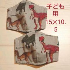 "Thumbnail of ""子供用マスク2枚組【送料無料】 恐竜柄 立体マスク★"""