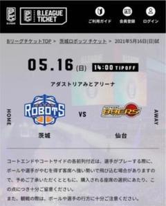 "Thumbnail of ""5月16日(日)茨城ロボッツVS 89ers (ペア)"""