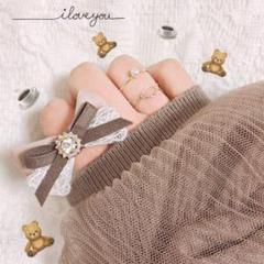 "Thumbnail of ""カフェモカリボンリング 指輪 ハンドメイド 量産 量産型 モカ リボン"""