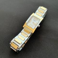 HERMES タンデム 腕時計 TA1.220 コンビ ゴールド シェル文字盤
