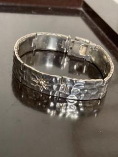 "Thumbnail of ""Vintage Indian bracelet sun motif 925"""