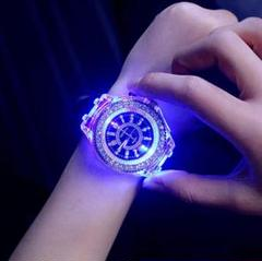 "Thumbnail of ""★ブラック★大特価☆七色 キラキラ LED 腕時計★お洒落デザイン★"""