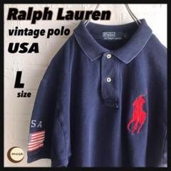"Thumbnail of ""【フォロー割】Polo ラルフローレン ヴィンテージポロシャツ USA フラッグ"""