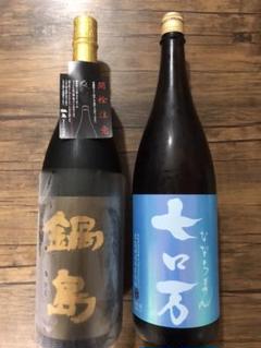 "Thumbnail of ""日本酒 1800ml 鍋島純大山田錦 七ロ万純米吟醸一回火入れ"""
