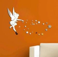 "Thumbnail of ""ティンカーベル ウォールミラー ウォールステッカー 壁飾り シルバー ミラー 星"""