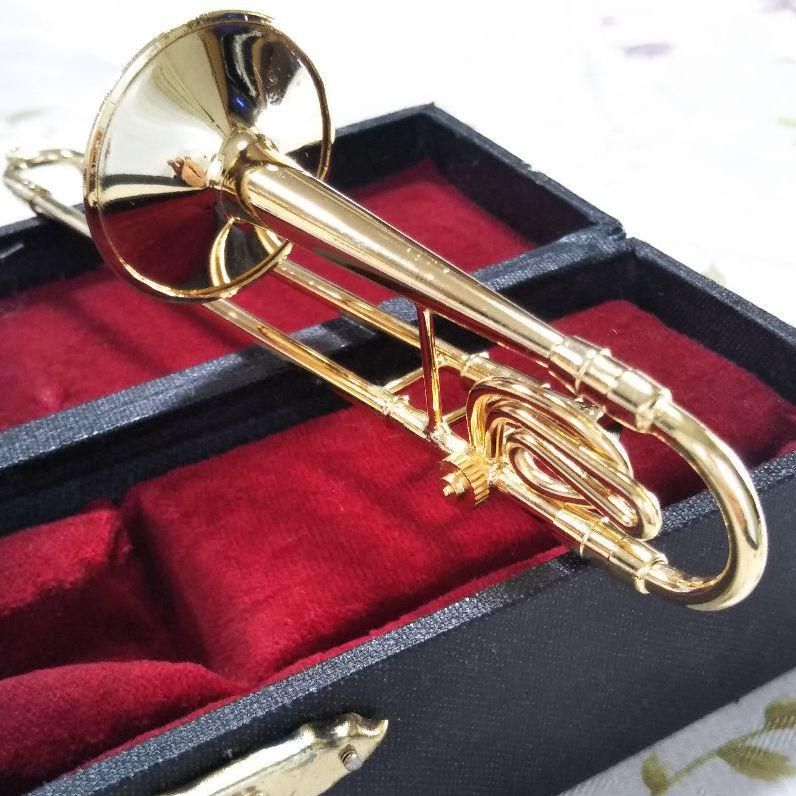 メルカリ 1174 0803 ミニチュア楽器トロンボーン ケース付き 1127