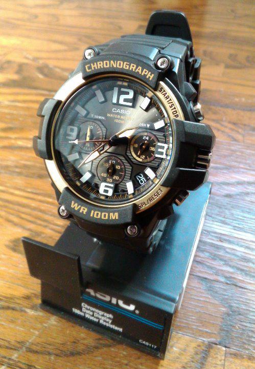 9e45de072e メルカリ - 新品 CASIO クロノグラフ MCW-100H-9A2V ゴールド 【腕時計 ...