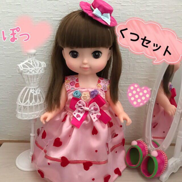 メルちゃん服 ピンクハートドレスセット♡ハンドメイド(¥899) , メルカリ スマホでかんたん フリマアプリ