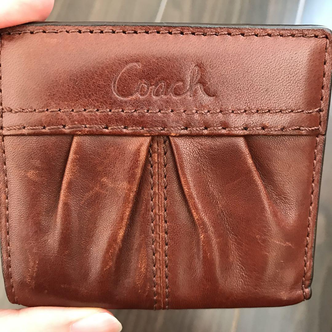 uk availability 6b220 dad72 コーチ 財布 小さい COACH レディース 小さいふ 二つ折り ミニ財布 牛革(¥3,500) - メルカリ スマホでかんたん フリマアプリ