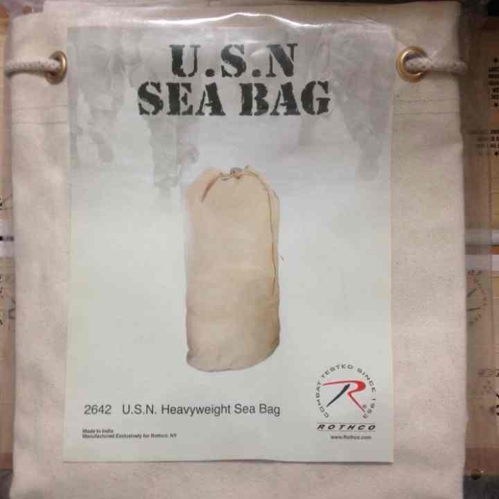 039f2b42e2 送料込 ROTHCO USN CANVAS SEA BAG 海軍 キャンバス(¥ 2