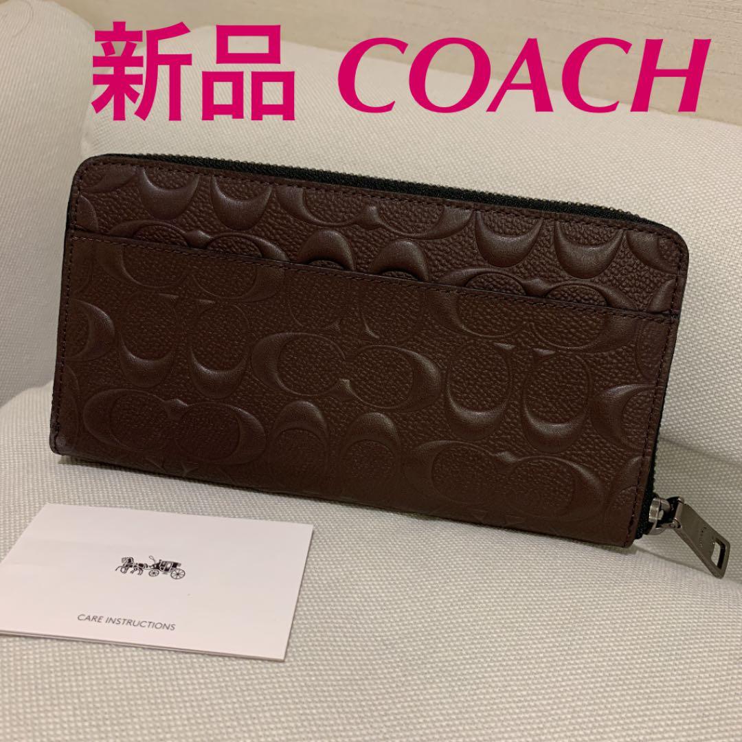 promo code 4e3d3 dc87d 新品 コーチ coach F58113 MAH 長財布 財布 シグネチャー 革(¥10,500) - メルカリ スマホでかんたん フリマアプリ