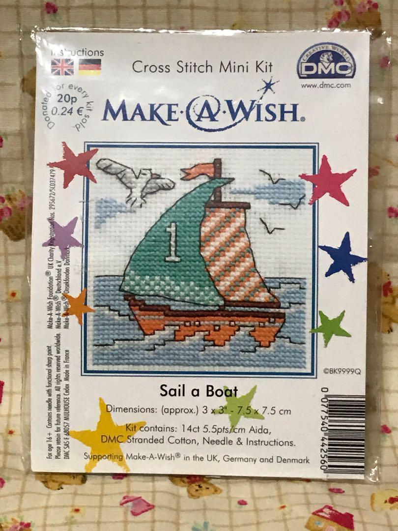 Sail A Boat Make A Wish DMC Cross Stitch Kit