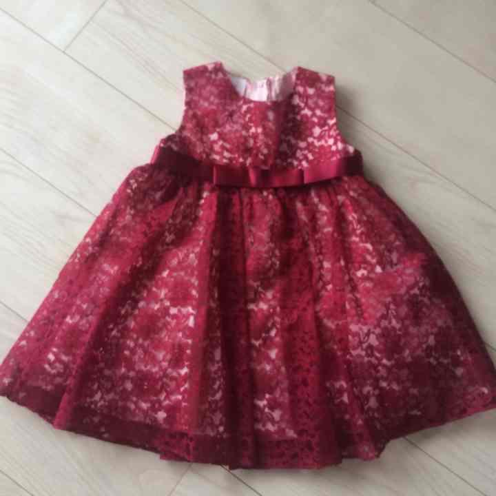 5c8218da9f0d0 メルカリ -  ミヤラ  キッズ 赤ドレス  ベビードレス  (¥1