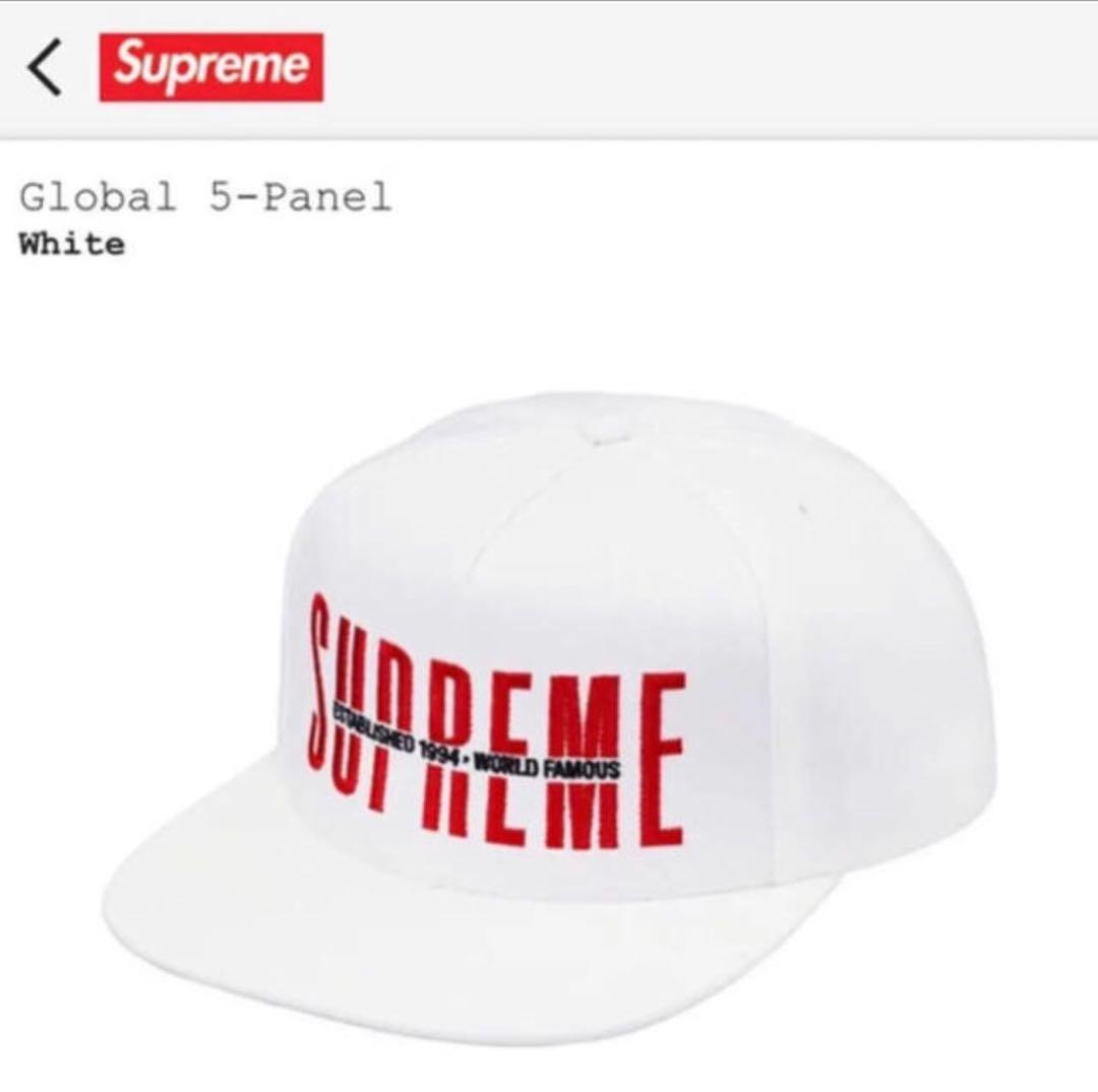 2c7c0475ae133 メルカリ - 18aw supreme global 5-panel cap  キャップ  (¥8