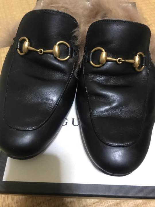 sports shoes 24420 05d3f gucci プリンスタウン レザー スリッパ(¥55,555) - メルカリ スマホでかんたん フリマアプリ