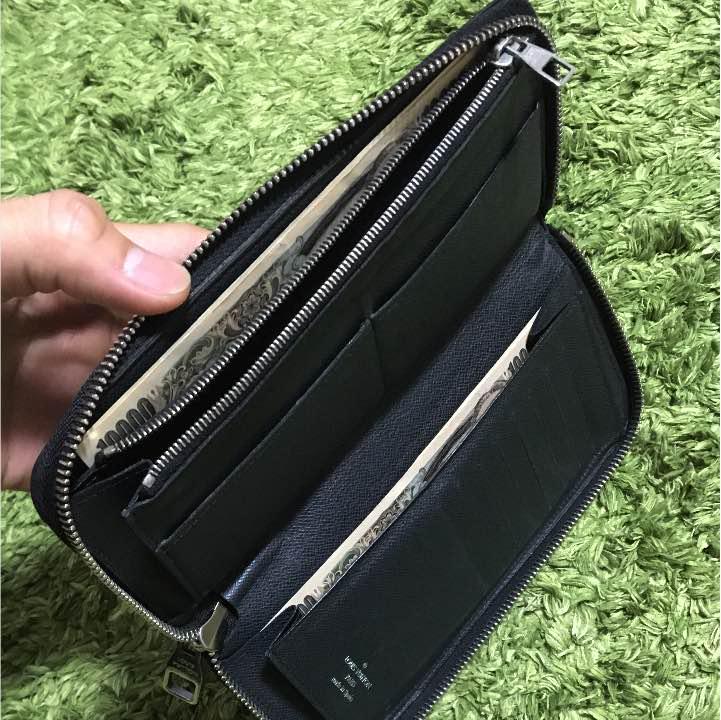 buy popular 8fa8b ef5b5 美品 ルイヴィトン ジッピーウォレット ヴェルティカル タイガ 黒(¥33,000) - メルカリ スマホでかんたん フリマアプリ