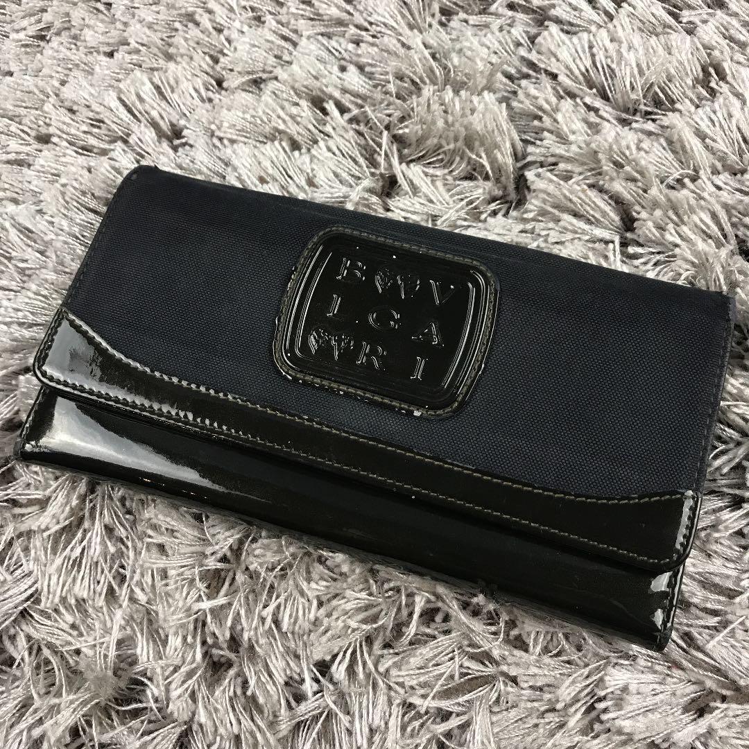 buy popular c4a34 09183 BVLGARI ブルガリ エナメル×キャンバス×本革 レザー 長財布(¥6,799) - メルカリ スマホでかんたん フリマアプリ