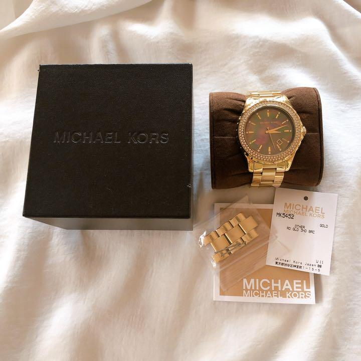 マイケルコース 腕時計 MICHAEL KORS 貝 ゴールド