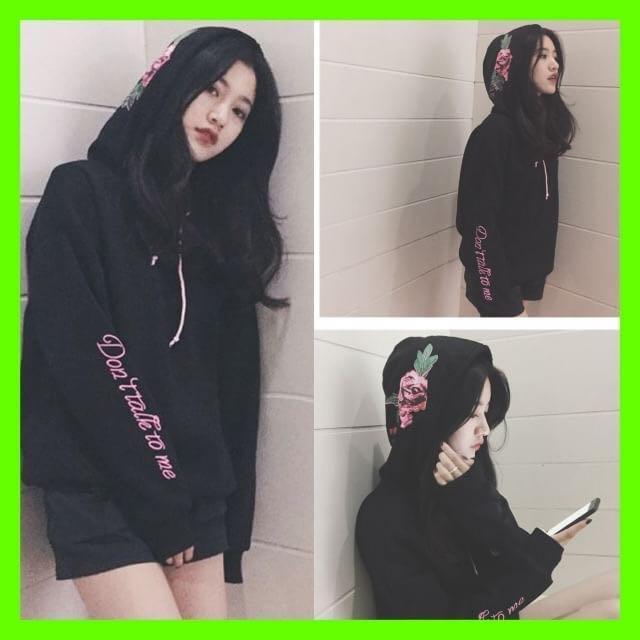 6c56dff5e92 メルカリ - 大人気 韓国 パーカー 薔薇 バラ柄 オルチャン 体型カバー ...