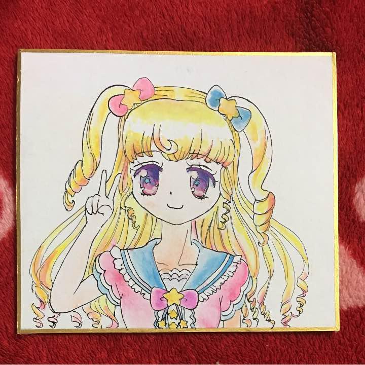 メルカリ アイドルタイム プリパラ 夢川ゆい イラスト 色紙 水彩