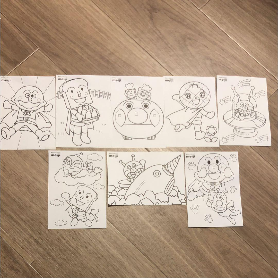 メルカリ アンパンマン ぬりえ 壁面 壁紙 型紙 キャラクターグッズ