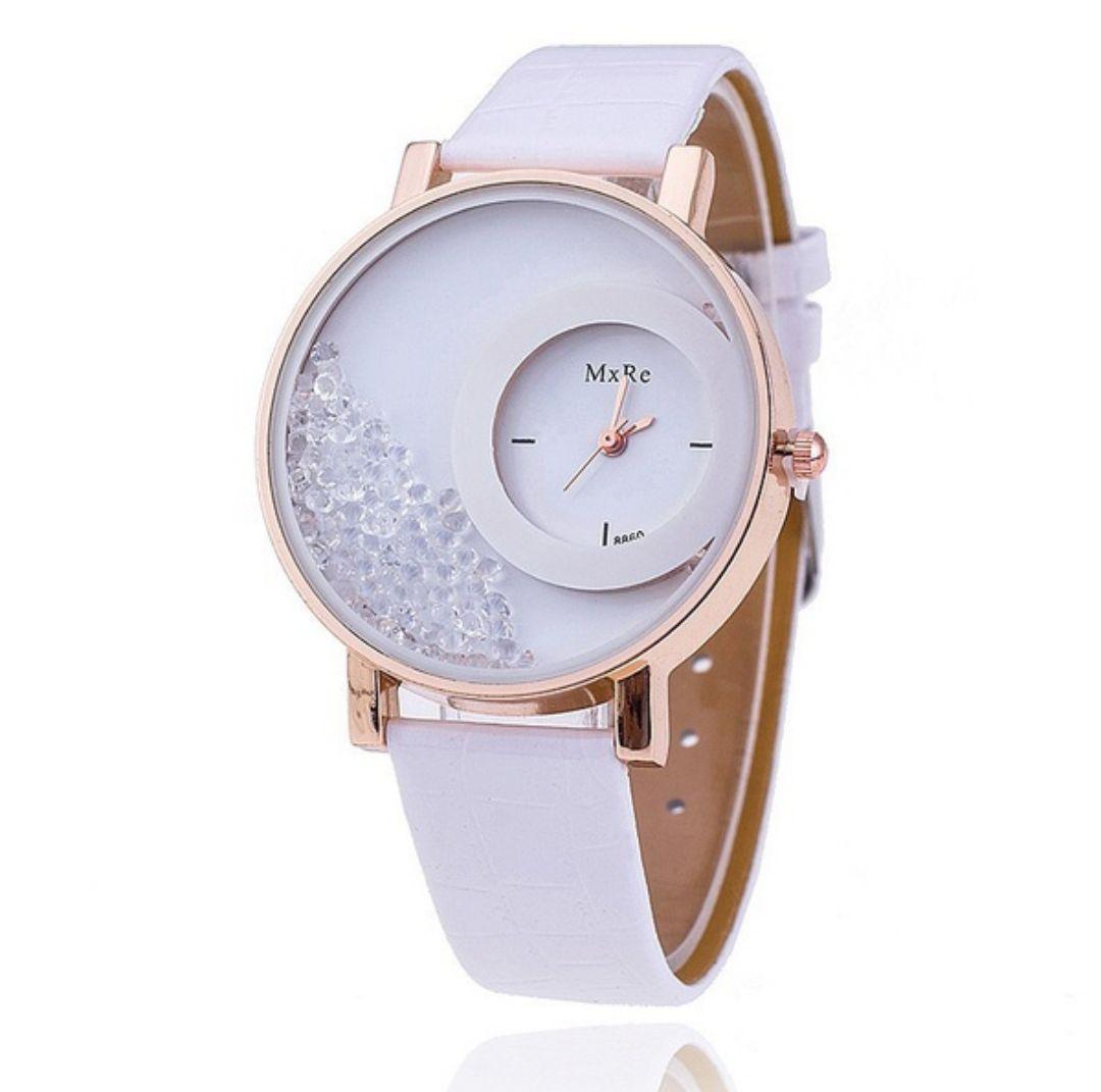 07a9bb9975 メルカリ - 【新品 人気】高級 海外ブランド レディース 腕時計 白 ビーズ ...