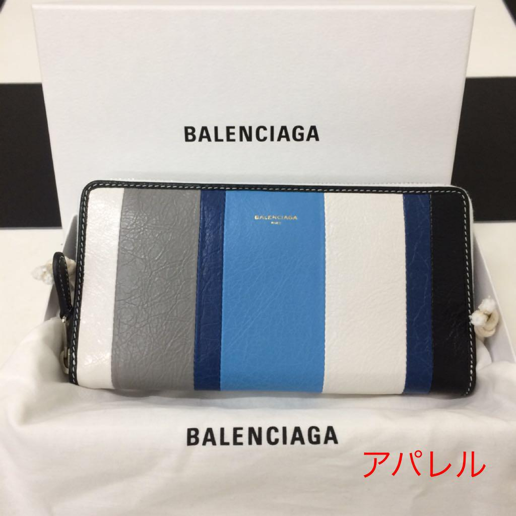 new concept 02030 ac546 新品正規品 BALENCIAGA バレンシアガ バザール ストライプ 長財布(¥53,300) - メルカリ スマホでかんたん フリマアプリ