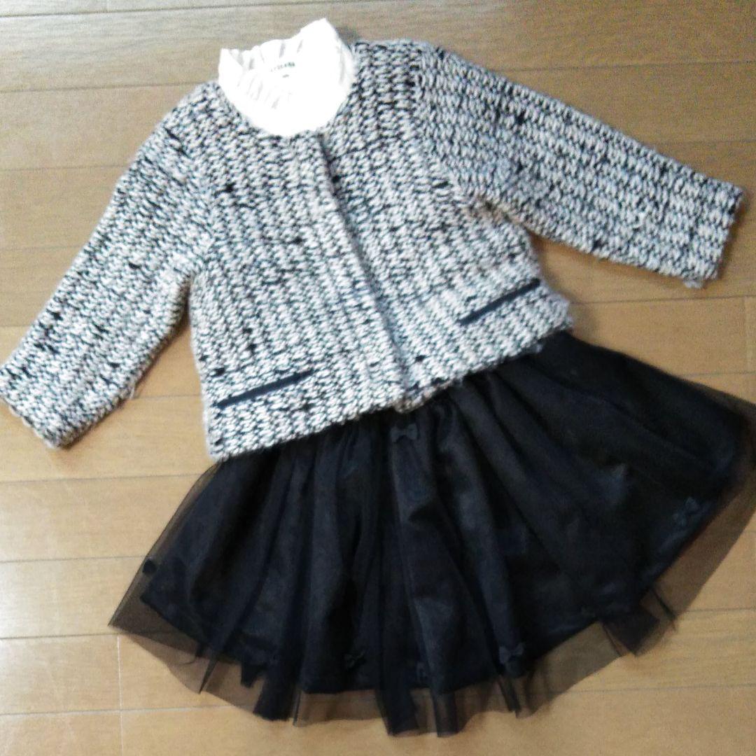 c9b30d43771fc メルカリ - 女の子 卒園式 入学式 スーツ ジャケット ブラウス チュール ...