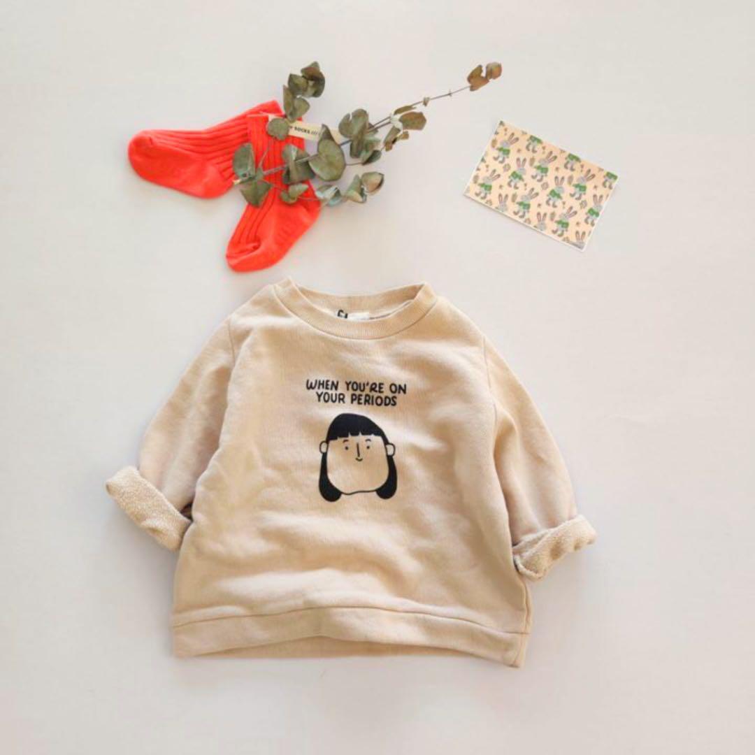 メルカリ 新品 イラストトレーナー 女の子 男の子 スウェット シンプル 秋 冬 トップス Tシャツ カットソー 1 980 中古や未使用のフリマ