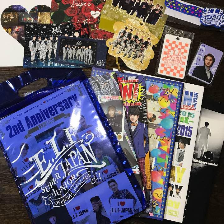Super Junior Elf Official Fanclub Goods Set Entertainment Memorabilia