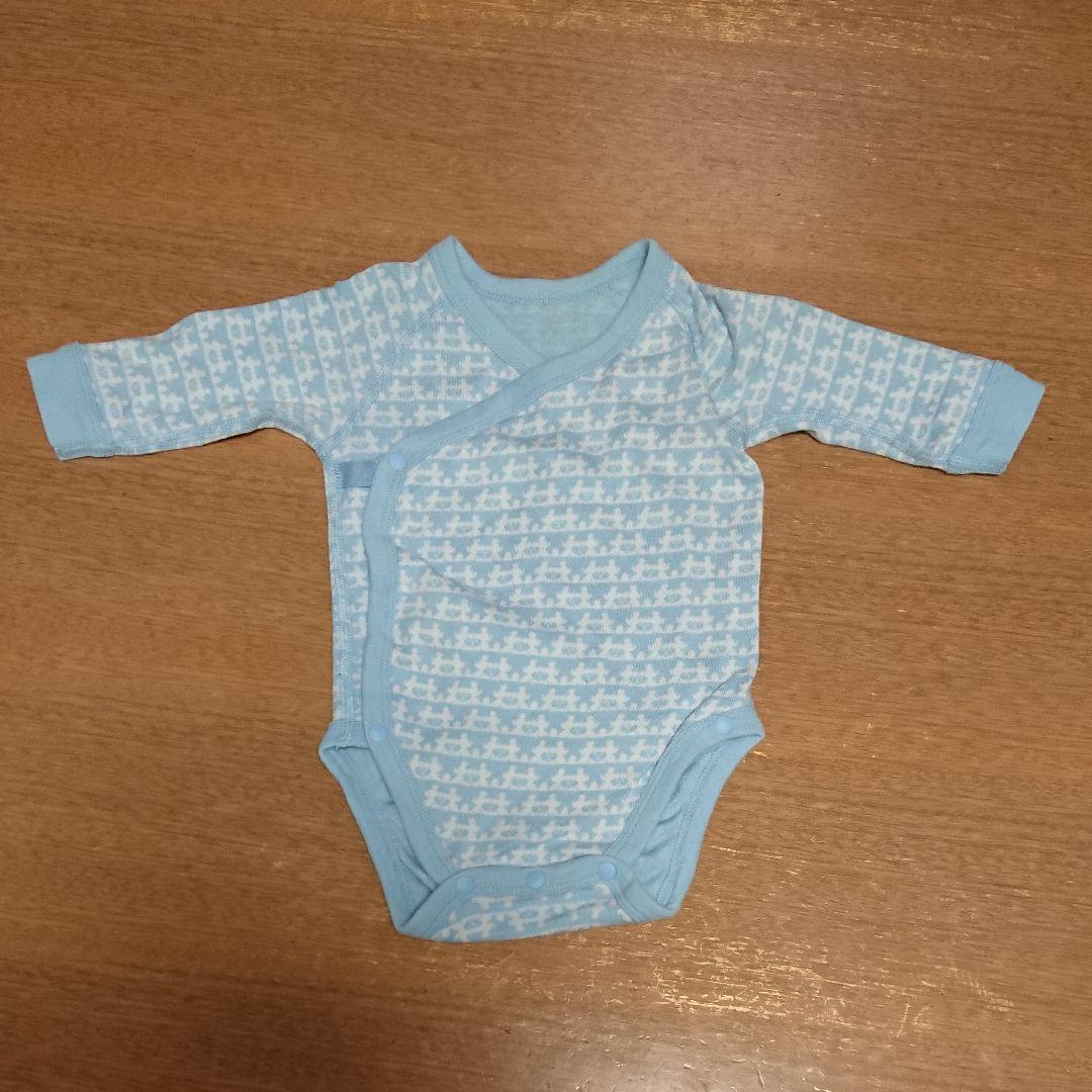 6e59f96f8057e メルカリ - ユニクロ ベビー肌着 ロンパース 2枚セット 60サイズ 長袖 ...