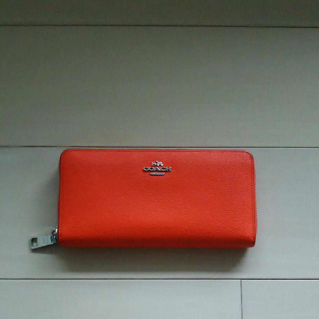 brand new 80fce 3321d COACH コーチ 長財布 オレンジ(¥3,500) - メルカリ スマホでかんたん フリマアプリ