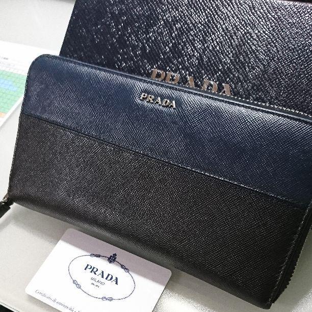 classic fit be9b0 0e779 PRADA メンズ長財布 ネイビーブルー サフィアーノ(¥55,555) - メルカリ スマホでかんたん フリマアプリ