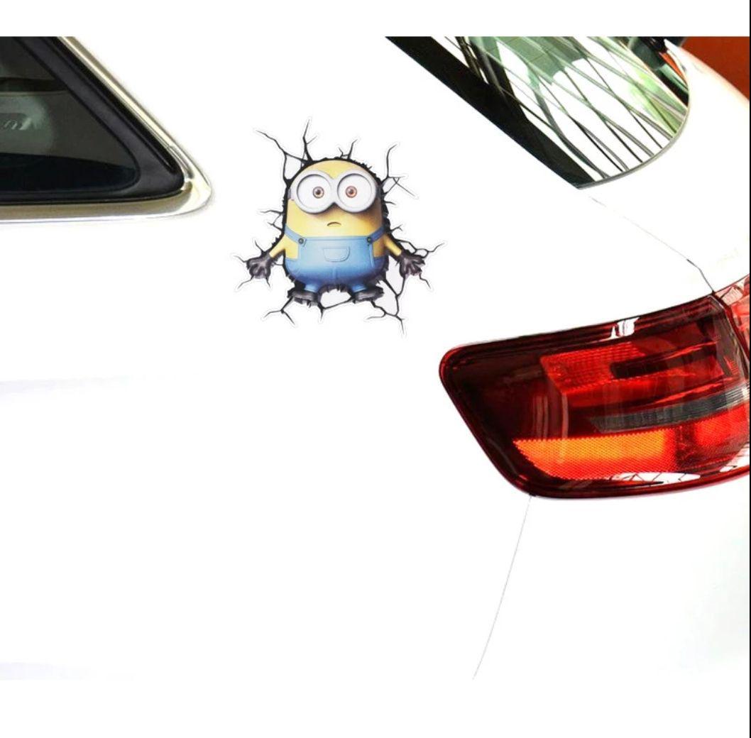 メルカリ 3d 面白カーステッカー 車以外にも ミニオンズ ボブ ラスト
