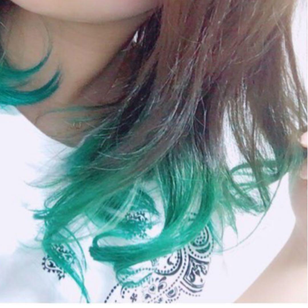 メルカリ ビューティーン ポイントカラー グリーン 緑 カラー