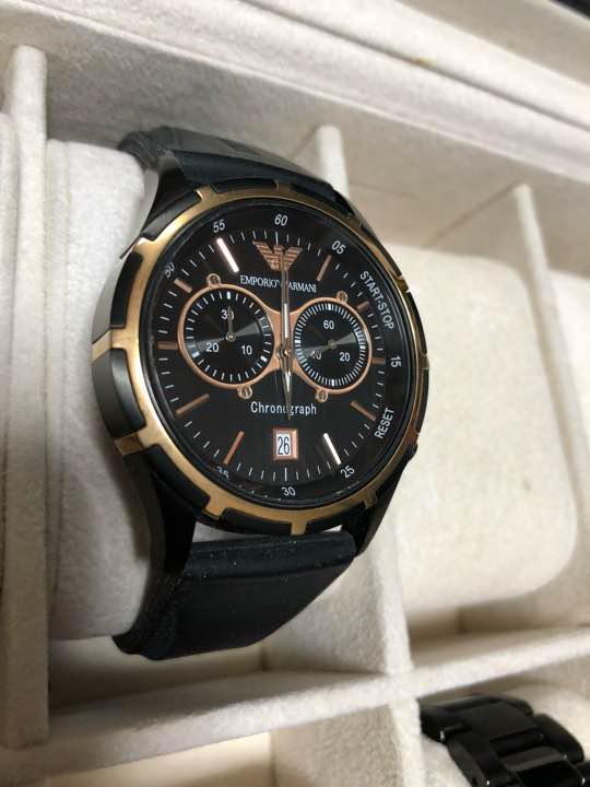 the latest 1d03b 03cc0 エンポリオアルマーニ 腕時計 ラバーベルト ブラック×ゴールド(¥10,000) - メルカリ スマホでかんたん フリマアプリ