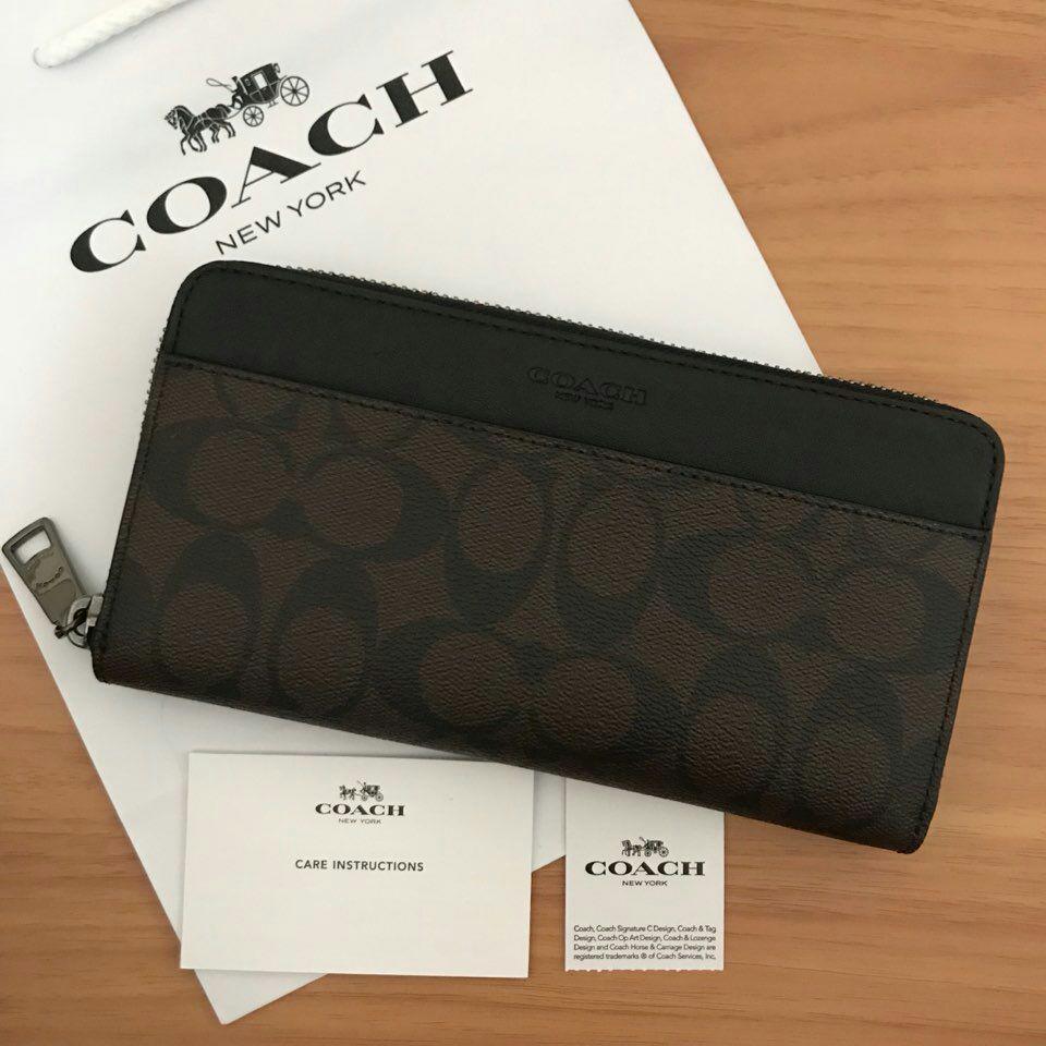 sports shoes e17be 2504a 新品♡COACH コーチ 長財布 ブラウン 茶色 ブラック 黒(¥15,400) - メルカリ スマホでかんたん フリマアプリ