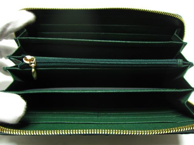 《セール》ラウンド長財布★本革クロコダイル★グリーン
