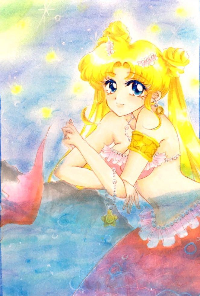 メルカリ イラスト 人魚姫 ハンドメイド 1099 中古や未使用の