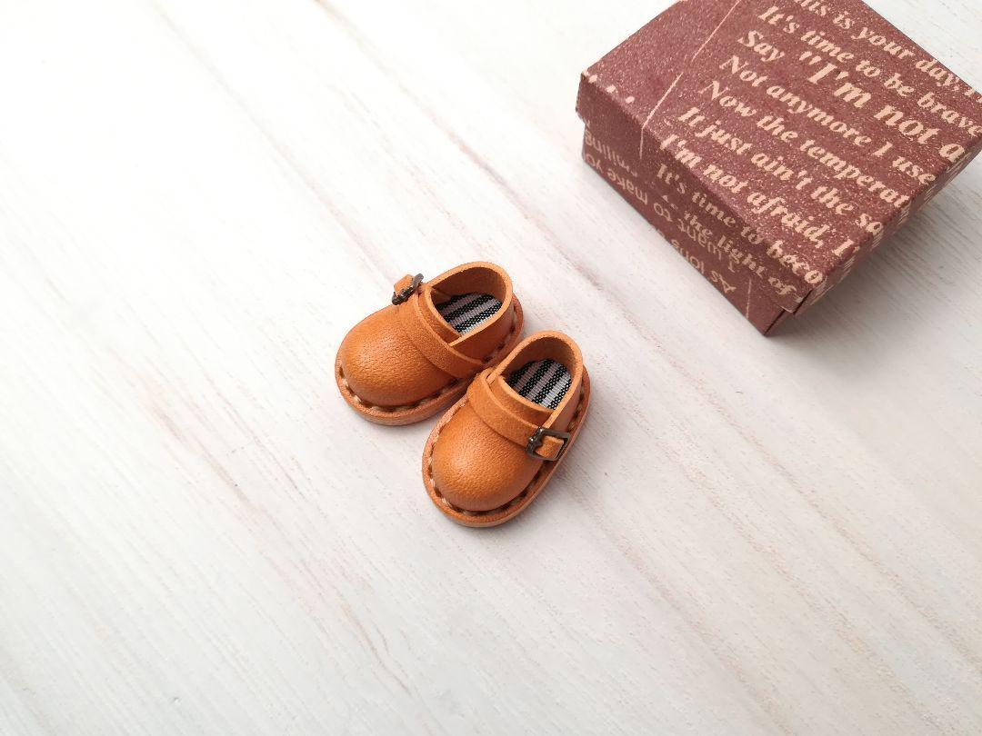 ドール 本革 ミニチュア靴 タン 内底ストライプ(¥6,480) , メルカリ スマホでかんたん フリマアプリ