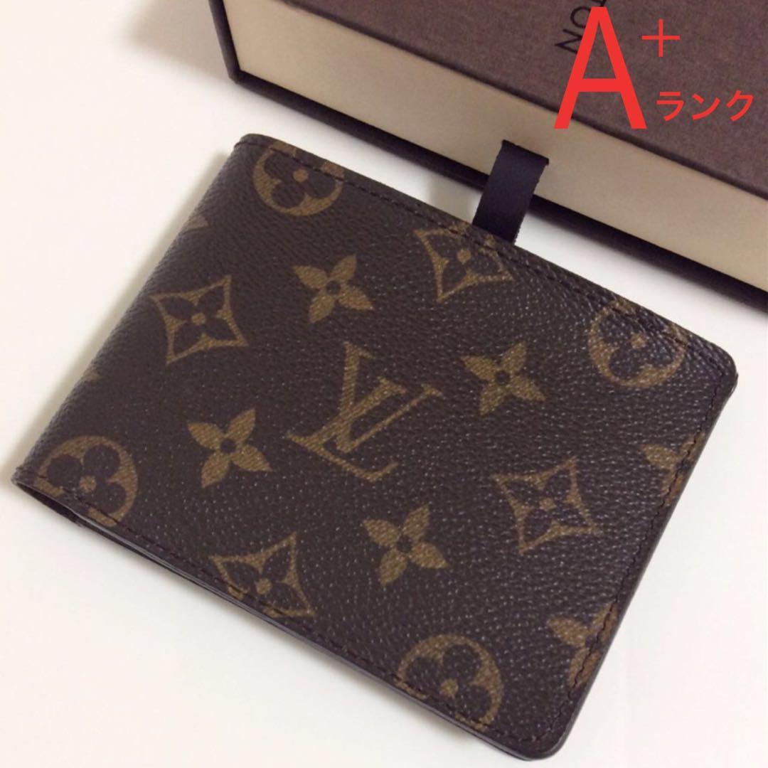 美品 ルイヴィトン モノグラム メンズ 二つ折り財布 札入れ 本物(¥20,000) メルカリ スマホでかんたん フリマアプリ