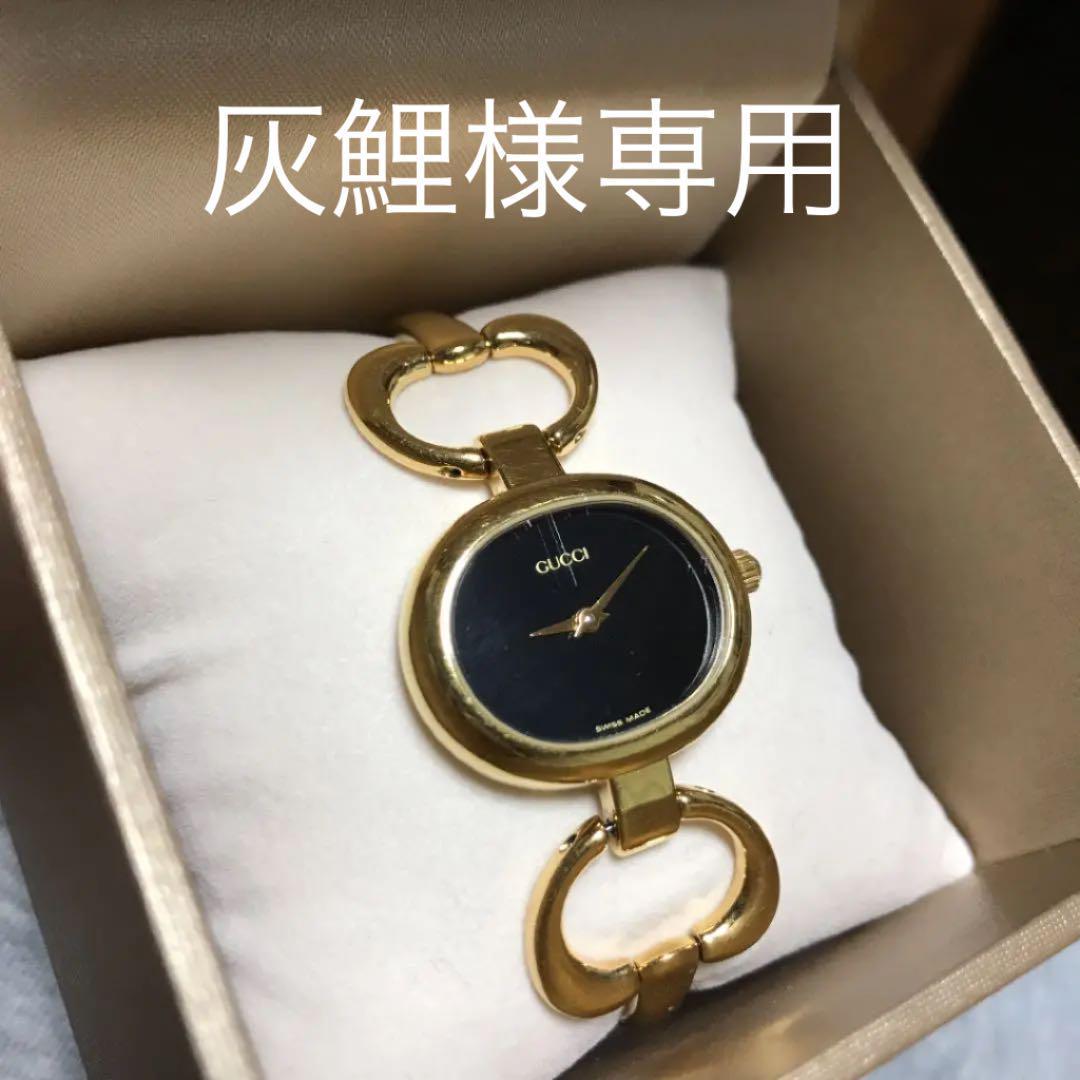 best service 5cf66 1a9da GUCCI ヴィンテージ時計 1600 文字盤黒【値下げしました!】(¥10,000) - メルカリ スマホでかんたん フリマアプリ
