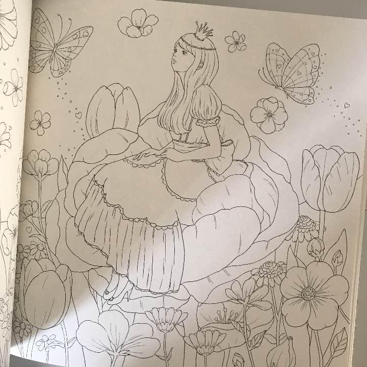 メルカリ 夢色プリンセス塗り絵 大人の塗り絵 アートエンタメ