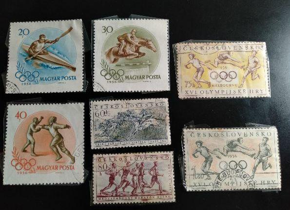 メルカリ - 使用済み切手 外国 ハンガリー、チェコ 1956年メルボルン ...
